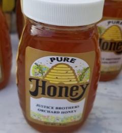 Raw Honey 8oz Glass Jar