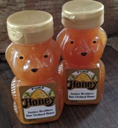 Raw Honey  6oz Plastic Honey Bear